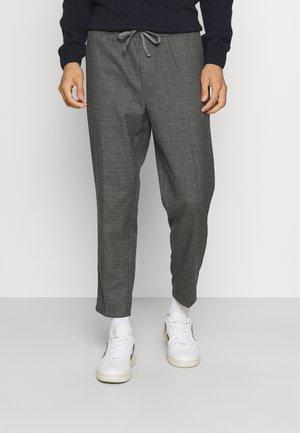 PILOU CHECKED PANTS - Trousers - dark grey melange