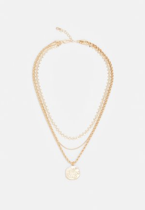 PCOLGA COMBI NECKLACE KEY - Necklace - gold-coloured