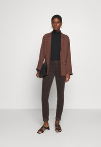 Marc O'Polo - ALBY SLIM - Trousers - dark chocolate - 1