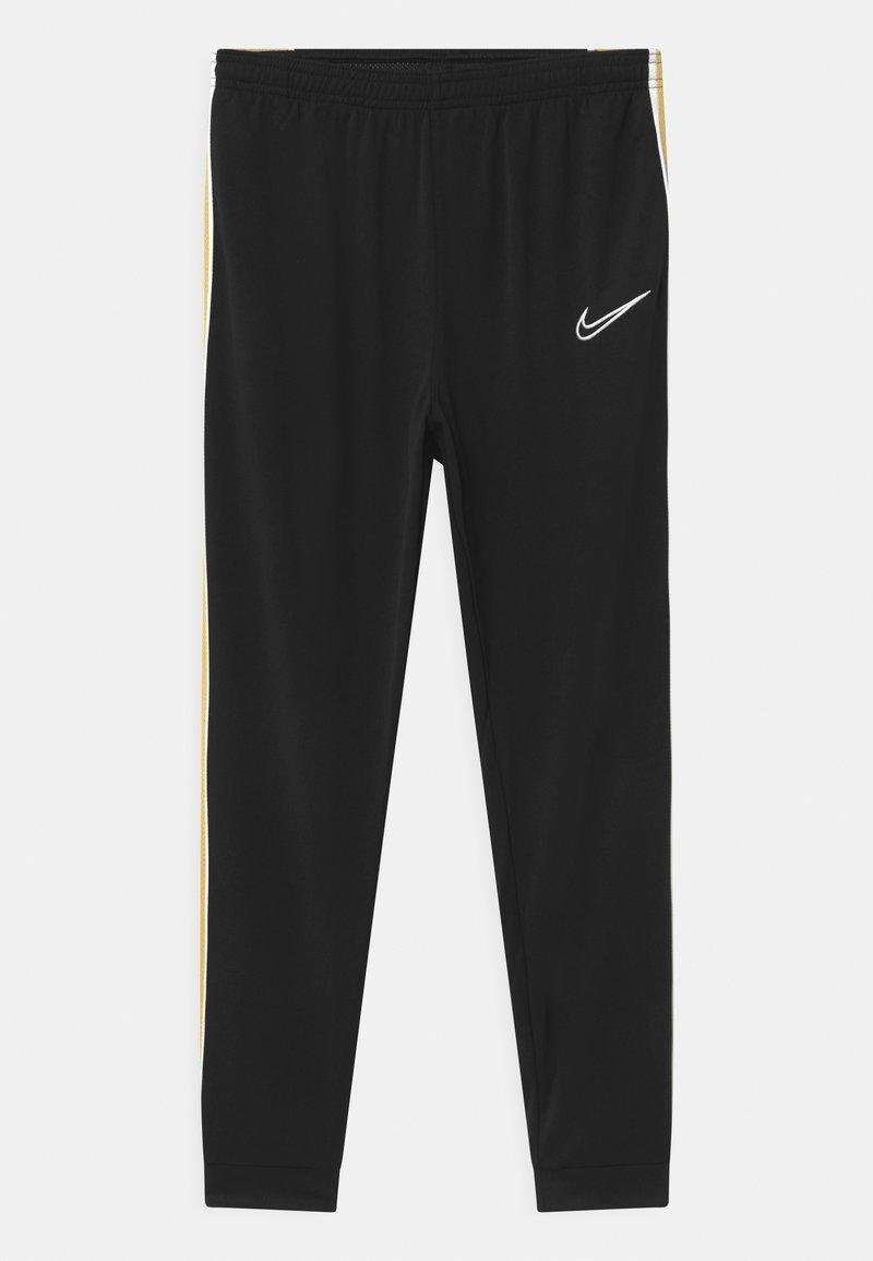 Nike Performance - ACADEMY UNISEX - Pantalon de survêtement - black/saturn gold/white