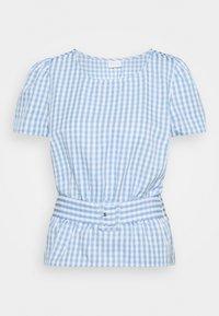 Vila - VIGRIMDA BELT - Print T-shirt - blue/white - 0