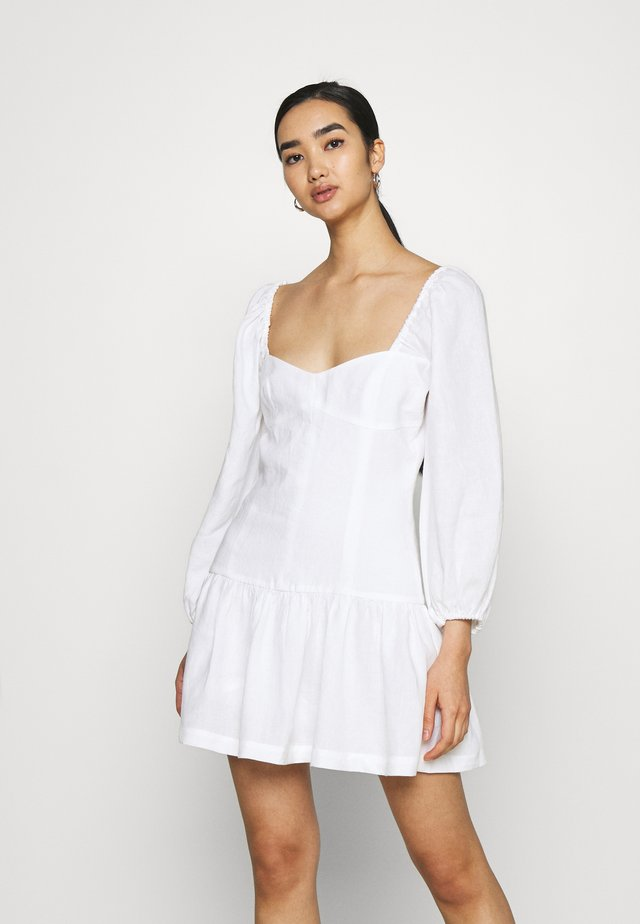 HENRIETTE MINI DRESS - Kjole - ivory