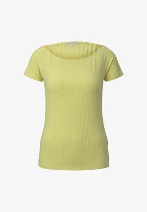 T-SHIRT SCHULTERFREIES CARMEN-T-SHIRT - T-shirt basic - daffodil yellow