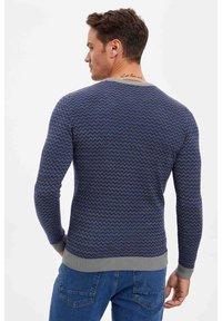 DeFacto - Stickad tröja - blue - 2