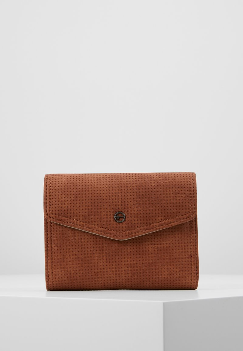 Tamaris - ADRIANA SMALL WALLET WITH FLAP - Portemonnee - cognac