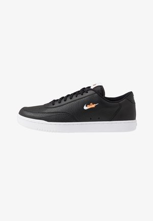 COURT VINTAGE UNISEX - Matalavartiset tennarit - black/white/total orange