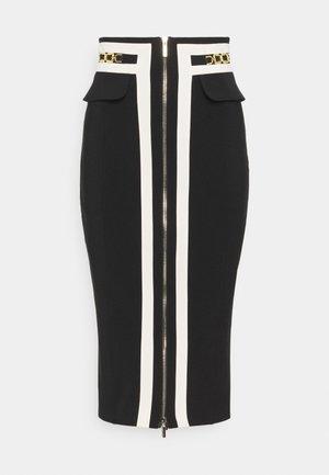 Pencil skirt - nero/burro