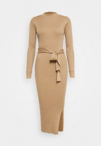 New Look Tall - TIE WAIST MIDI DRESS - Robe fourreau - camel - 0