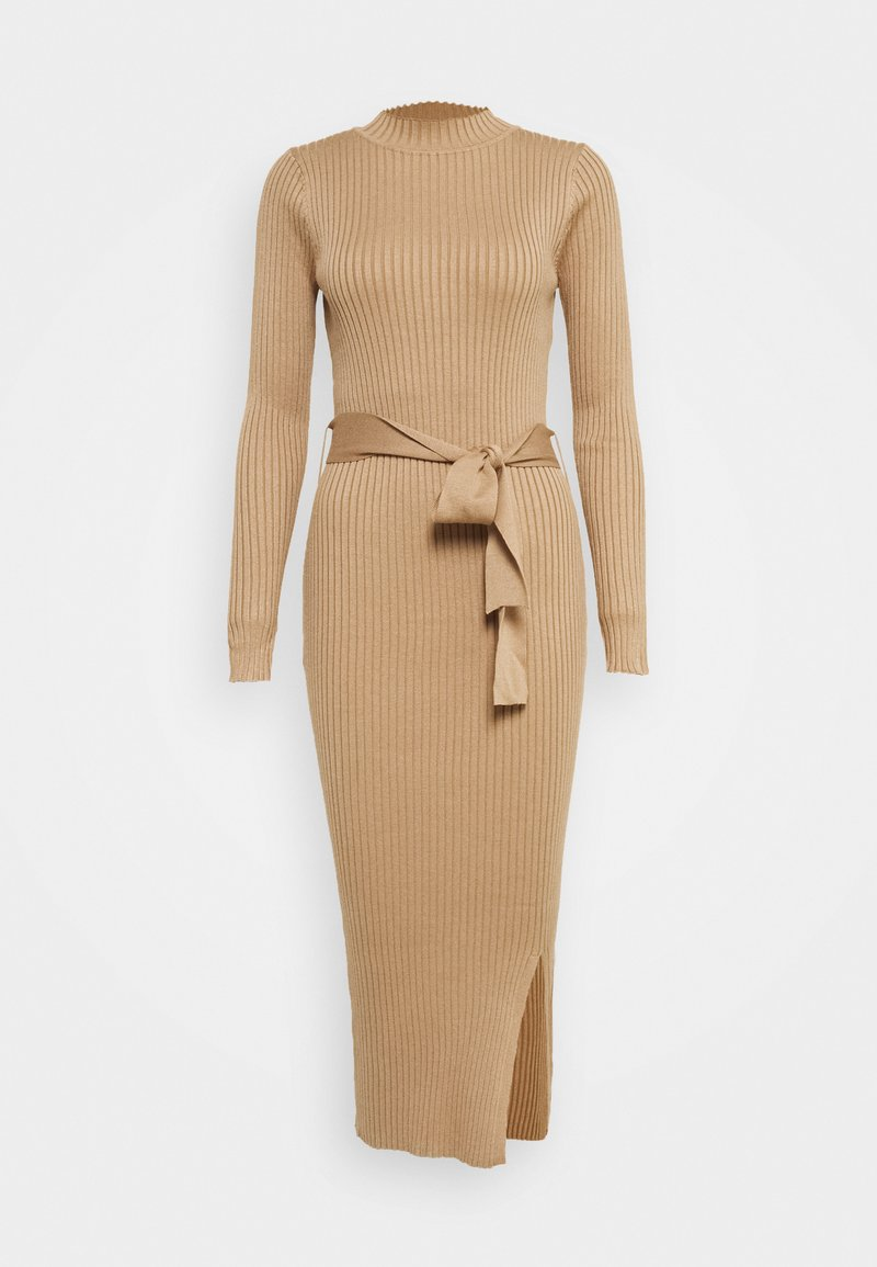 New Look Tall - TIE WAIST MIDI DRESS - Robe fourreau - camel