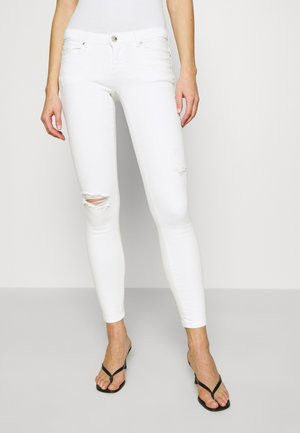 ONLCORAL SKINNY ANK DEST  - Jeans Skinny Fit - white