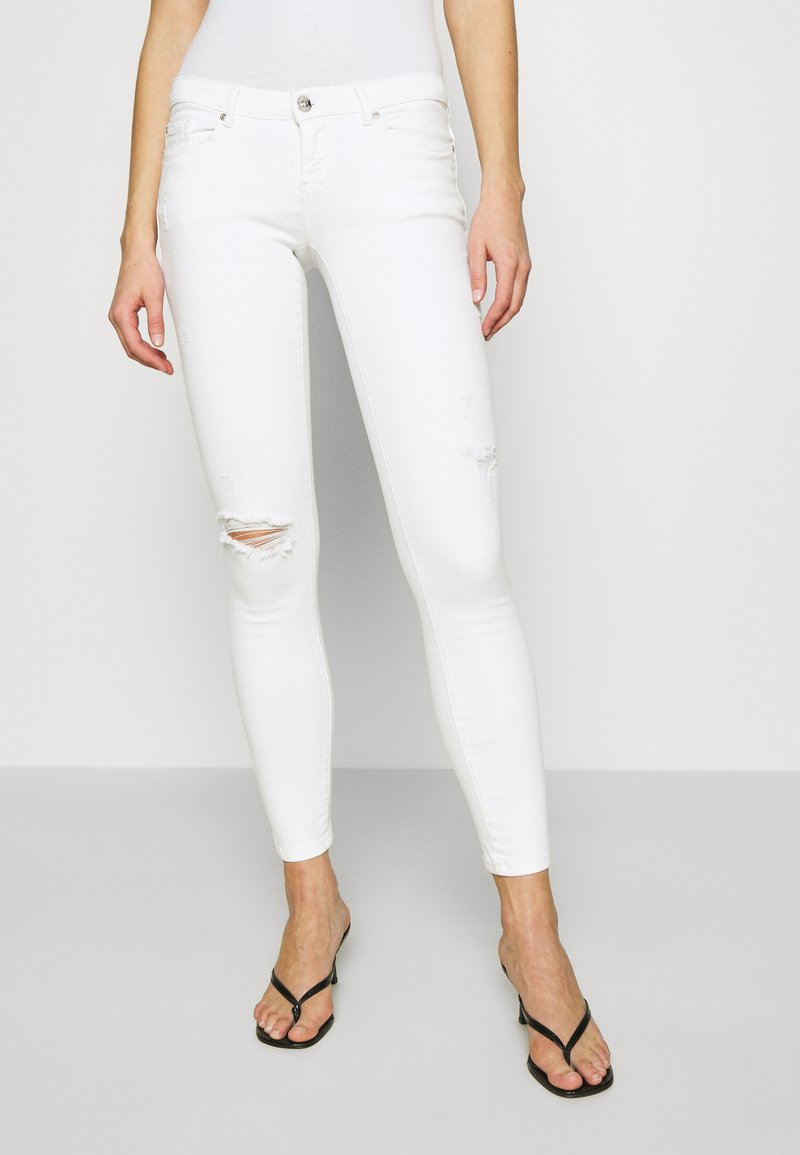 ONLY - ONLCORAL SKINNY ANK DEST  - Jeans Skinny Fit - white