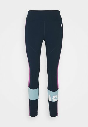 COLOR BLOCK CROPPED - Collant - french blue/digital grape