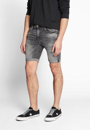 3301 SLIM  - Denim shorts - black superstretch