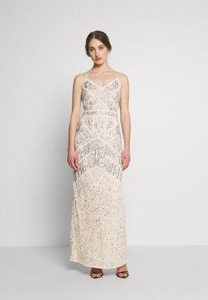 FLORY - Společenské šaty - cream silver