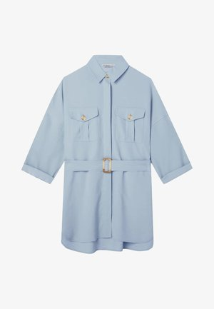 LANGE LYOCELL - Shirt dress - light blue