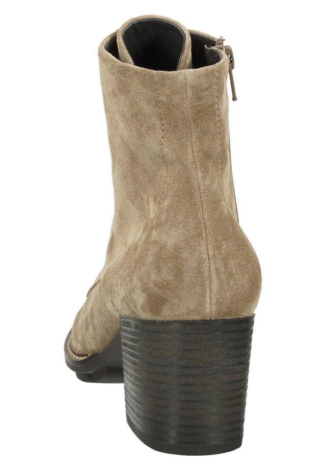 Boots à talons - grau-braun 017
