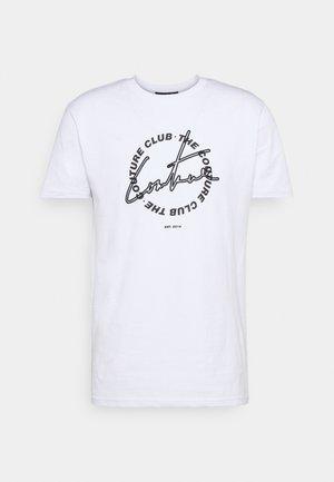 COUTURE SIGNATURE CIRCLE SLIM FIT T SHIRT - T-shirt imprimé - white