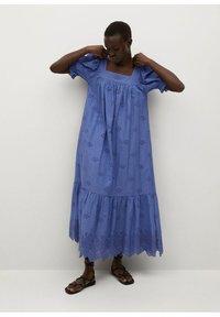 Mango - Vestido largo - blue - 0