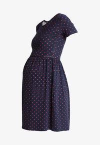 LIMBO - Jersey dress - navy blue/red