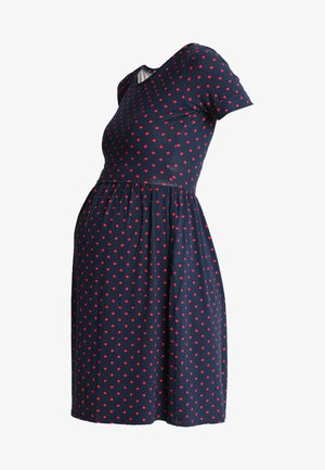 LIMBO - Jersey dress - navy blue/red