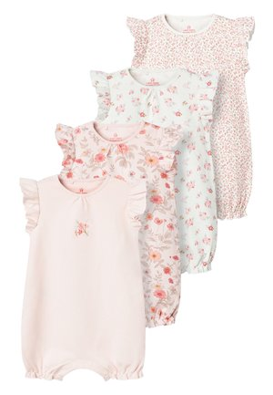 PINK 4 PACK FLORAL ROMPERS (0MTHS-3YRS) - Overall / Jumpsuit /Buksedragter - pink