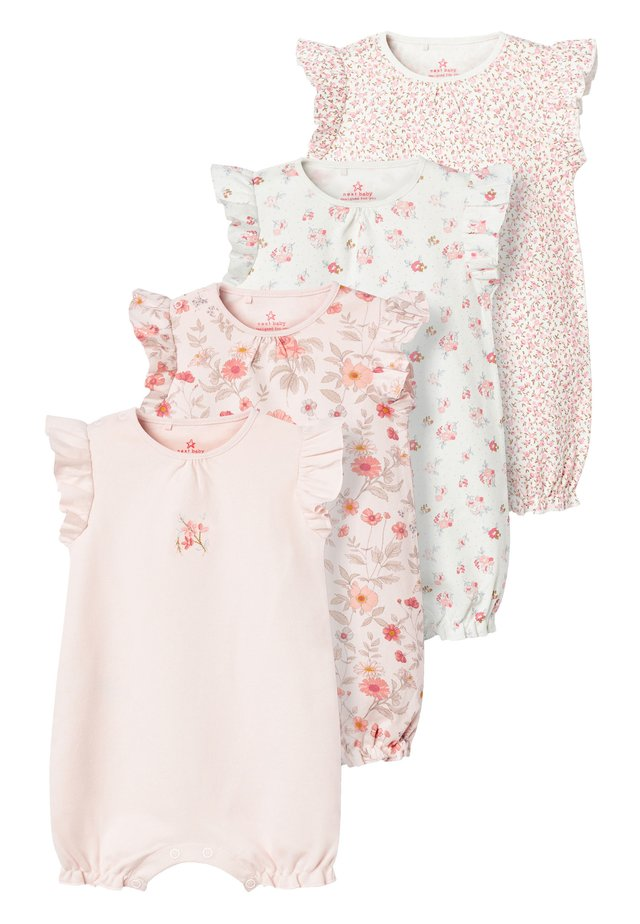 PINK 4 PACK FLORAL ROMPERS (0MTHS-3YRS) - Combinaison - pink