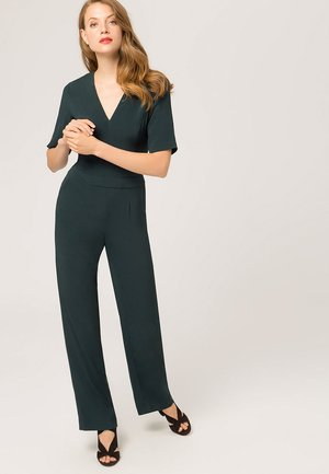 V NECK - Jumpsuit - bottle green