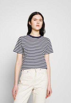 MYSEN STRIPES - Print T-shirt - black iris