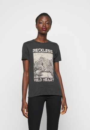 ONLLUCY LIFE TIGER LEO - Print T-shirt - black