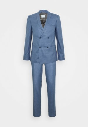 GROBY DOUBLE BREASTED SUIT - Oblek - light blue