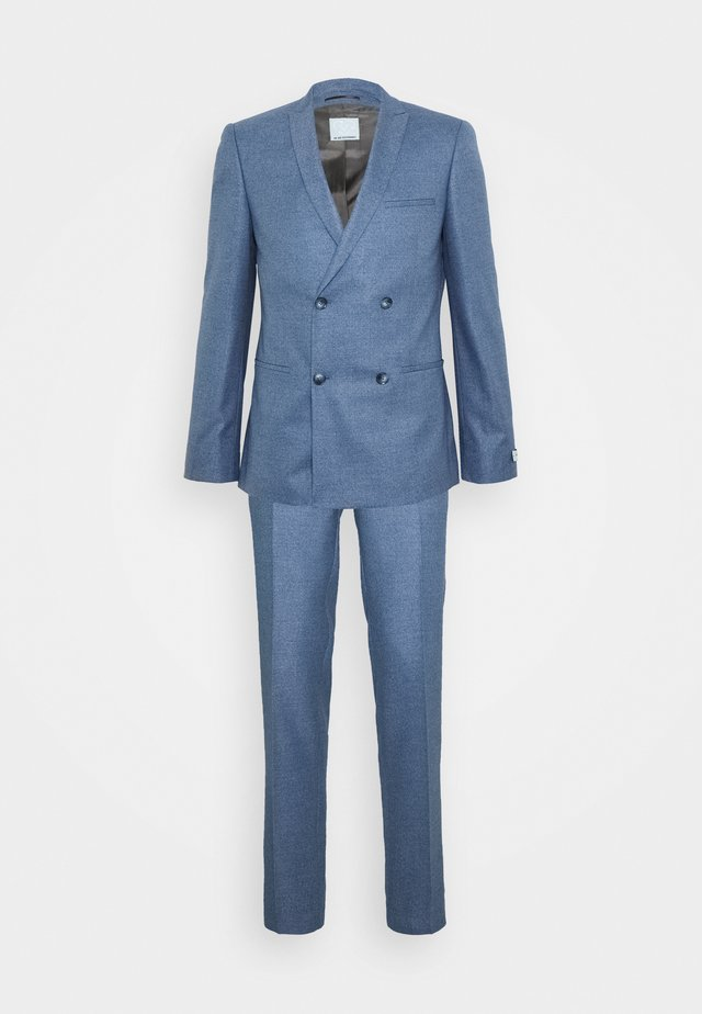 GROBY DOUBLE BREASTED SUIT - Garnitur - light blue