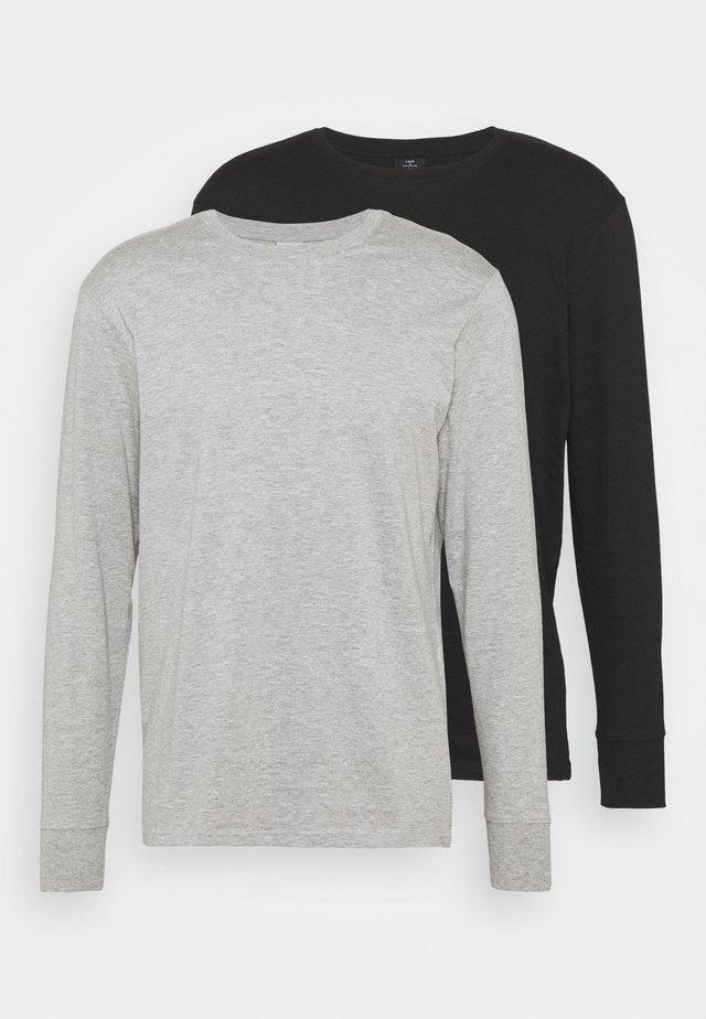 LONG SLEEVE 2 PACK - Top sdlouhým rukávem - black/grey marle