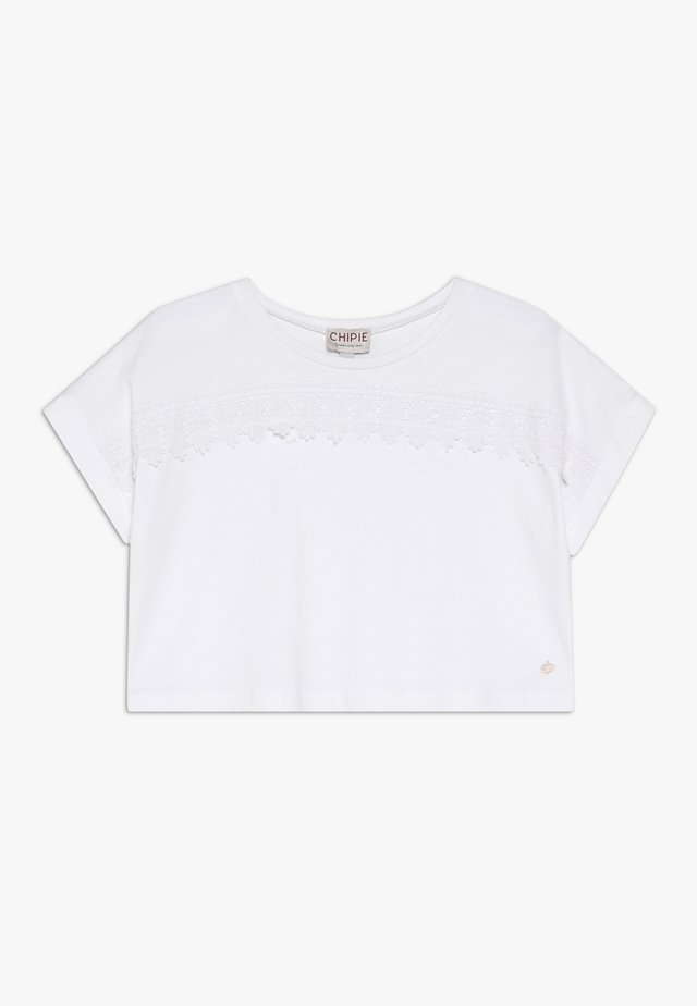 T-shirt con stampa - blanc