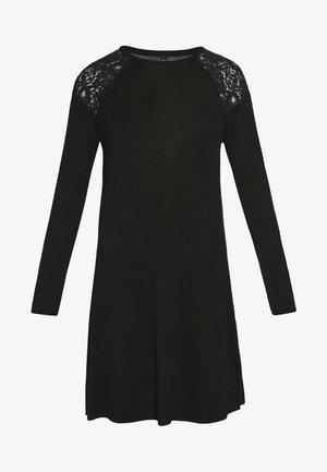 ONLKARLA SKATER DRESS - Strickkleid - black