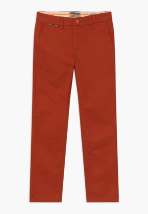SLIM FIT - Chino kalhoty - lumber red