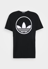 CIRCLE TREFOIL - Print T-shirt - black