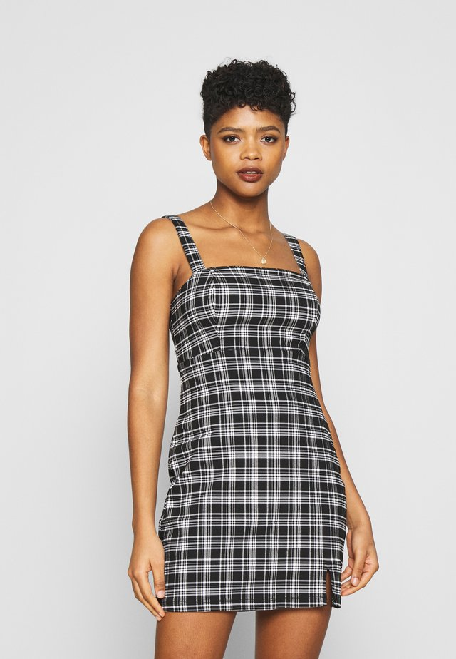 BARE STRUCT SHORT DRESS - Korte jurk - black