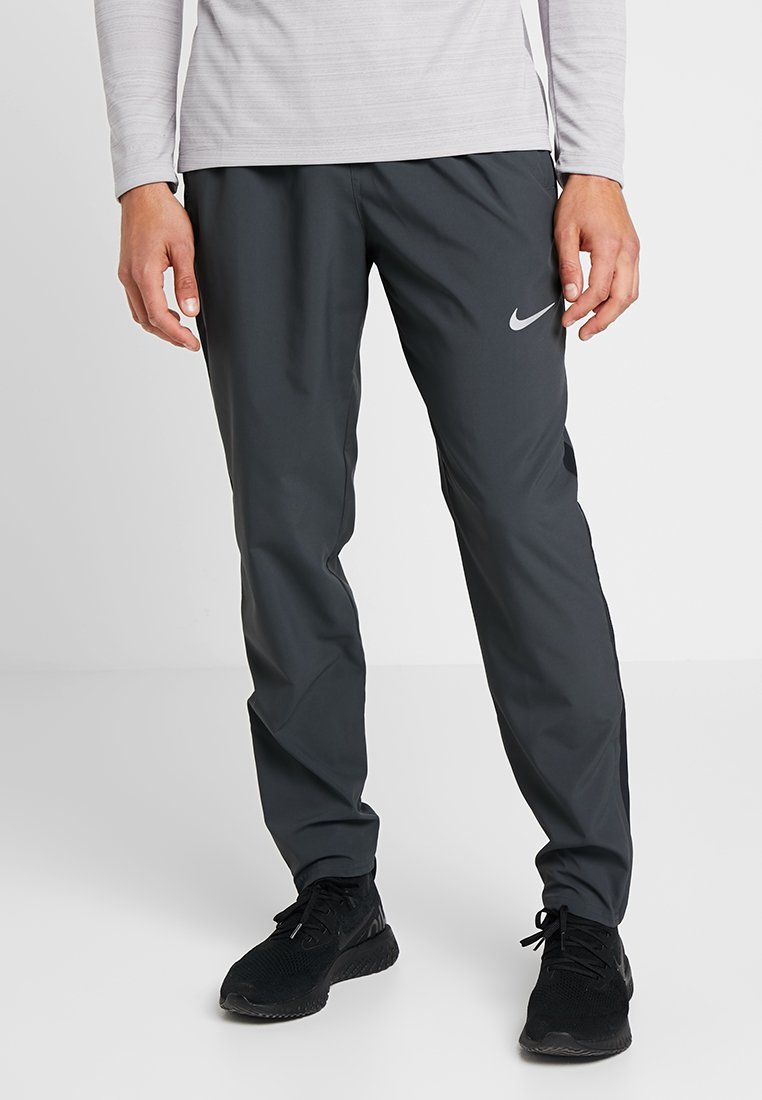 RUN STRIPE PANT Joggebukse dark smoke greyreflective silver