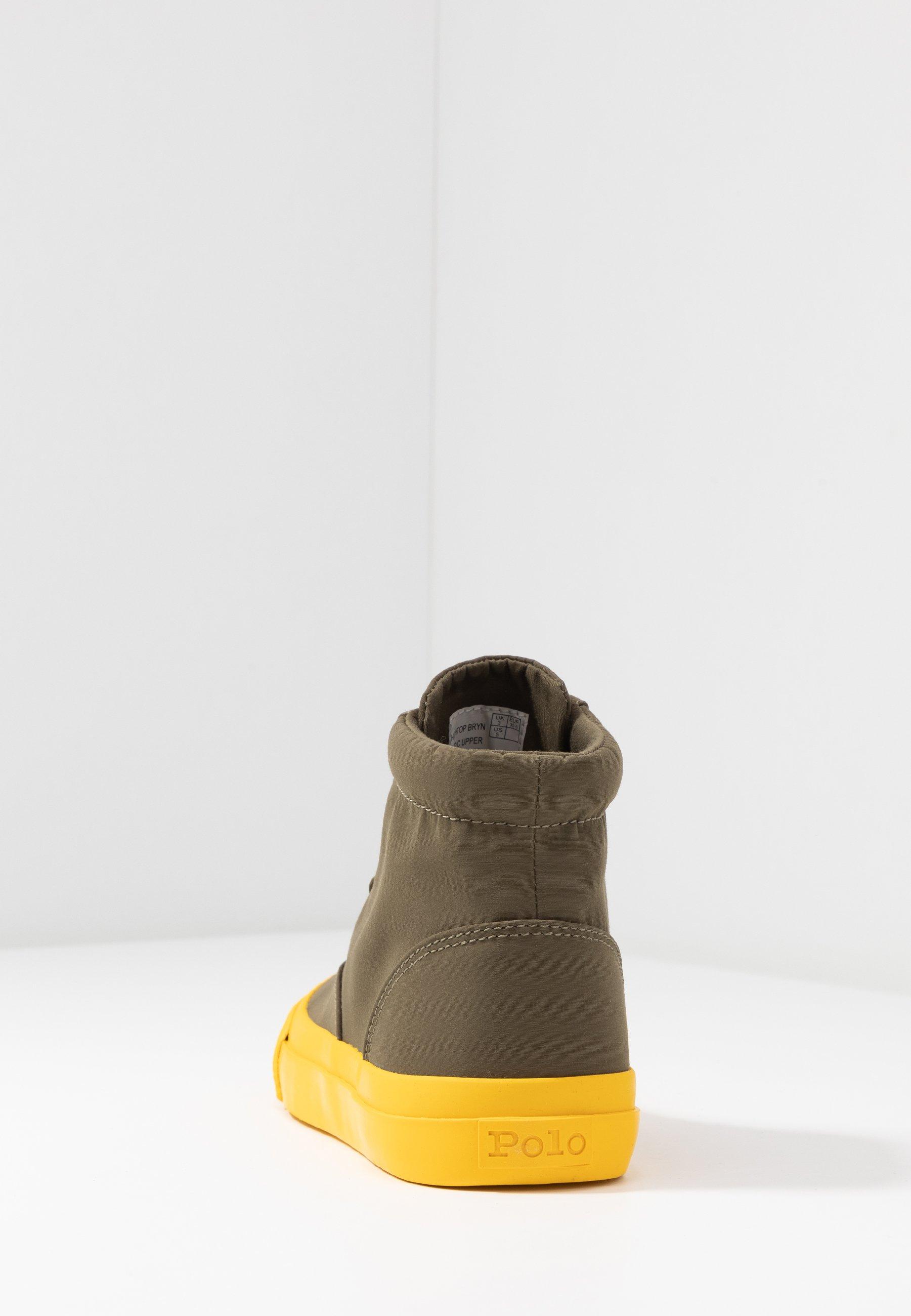 Polo Ralph Lauren Høye Joggesko - Military/yellow