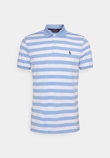 SHORT SLEEVE - Print T-shirt - blue lagoon/white