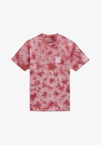 Vans - MN TALL TYPE SS - Print T-shirt - pomegranate/tie dye - 2