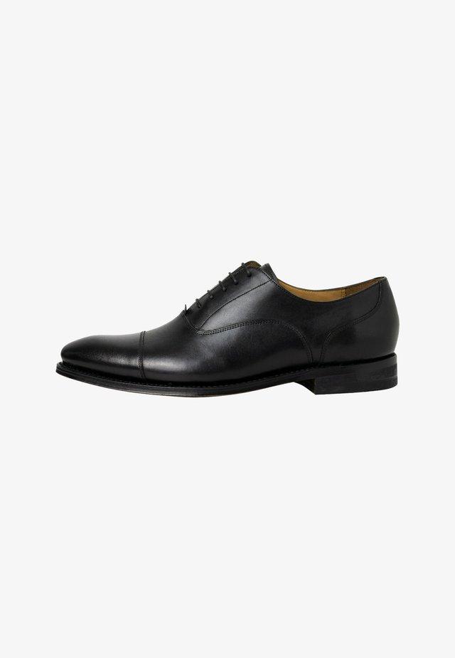 Business sko - mottled black