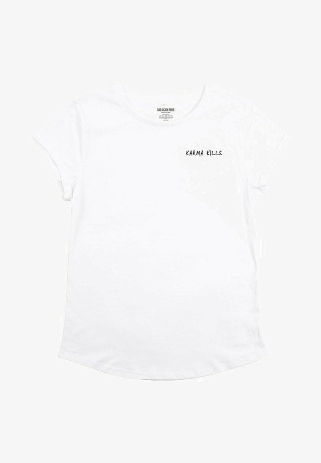 KARMA KILLS - T-shirt imprimé - white