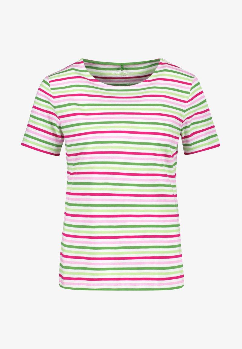 Gerry Weber - Print T-shirt - lila pink grün ringel