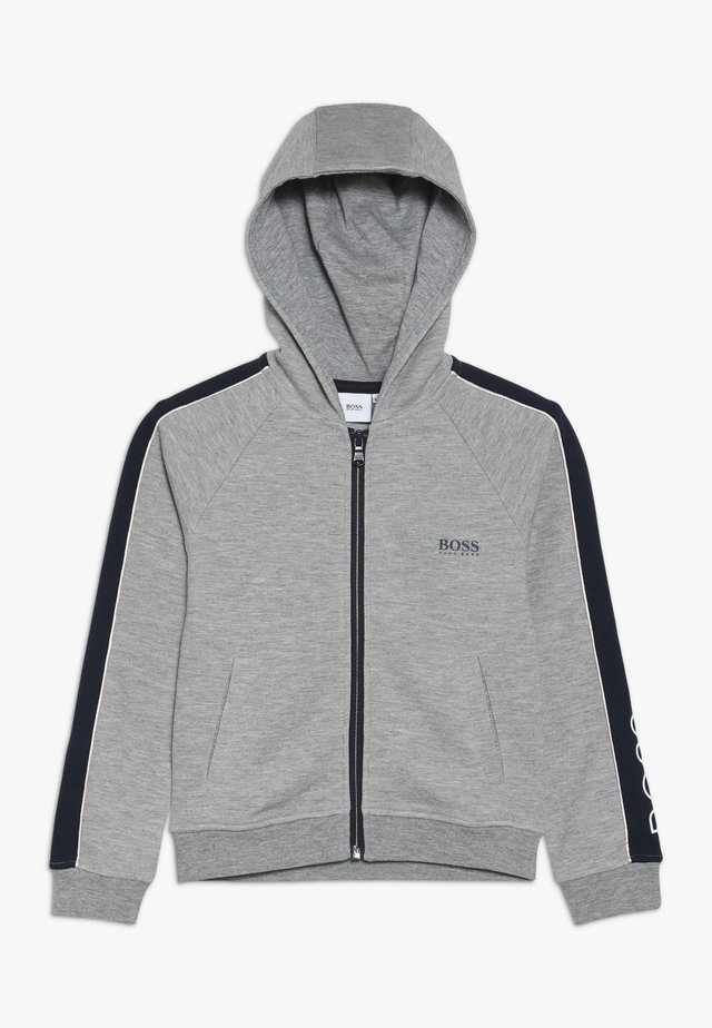 Zip-up hoodie - graumeliert