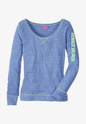 Long sleeved top - blau-meliert