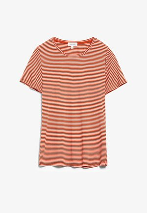 Basic T-shirt - glossy orange-kitt