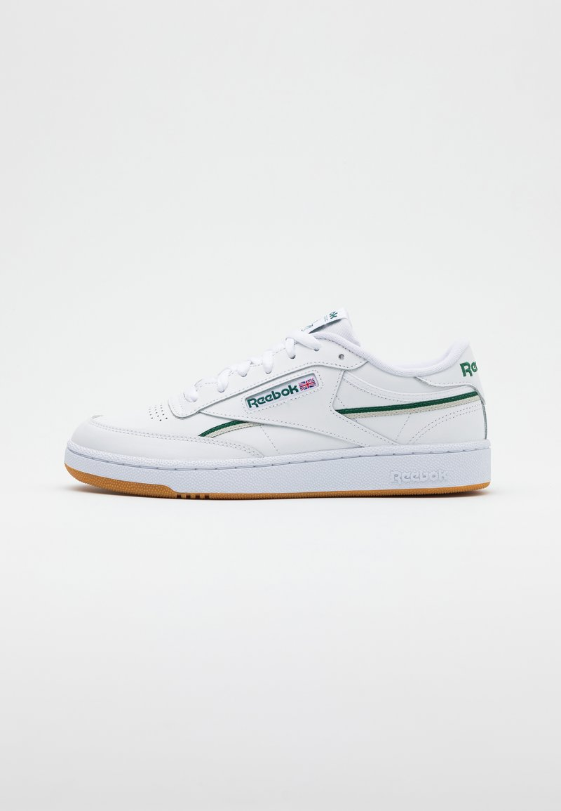 Reebok Classic - CLUB C 85 - Zapatillas - white/dark green/chalk white