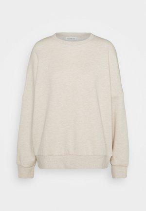 OVERSIZED CREW NECK SWEATSHIRT - Sweater - beige
