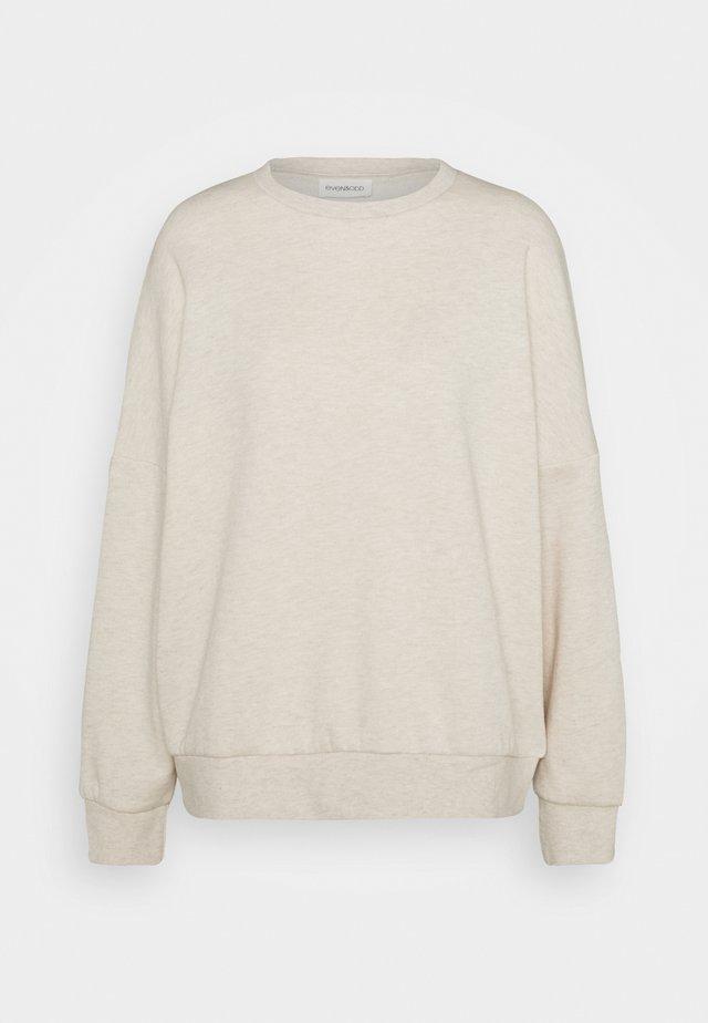 OVERSIZED CREW NECK SWEATSHIRT - Sweatshirt - beige